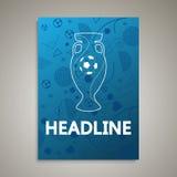 欧元2016年世界国际足球联合会冠军的横幅 图库摄影