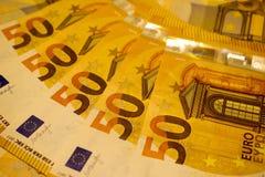 50欧元 欧盟的金钱 库存图片