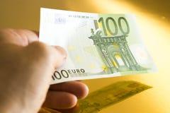 100欧元 库存照片