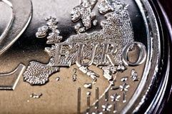 2欧元 库存照片