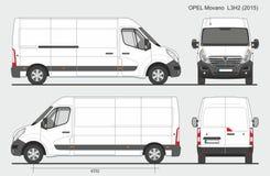 欧宝Movano Cargo范L3H2 2015年 库存例证