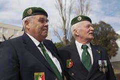 欧巴涅,法国 2012年5月11日 法国外籍兵团的退伍军人画象在退伍军人期间年会  免版税库存照片