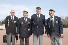 欧巴涅,法国 2012年5月11日 法国外籍兵团的退伍军人画象在退伍军人期间年会  库存照片