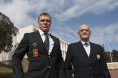 欧巴涅,法国 2012年5月11日 法国外籍兵团的退伍军人画象在退伍军人期间年会  免版税图库摄影