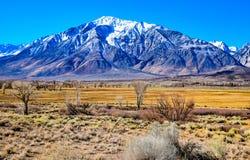 欧文在山脉山下的` s谷 免版税图库摄影