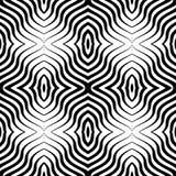 欧普艺术传染媒介无缝的几何样式 免版税库存照片