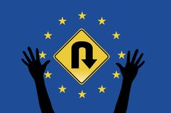 欧洲严格避难者的规则 库存照片