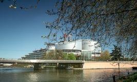 欧洲人权法院史特拉斯堡阿尔萨斯,欧洲法国 免版税库存图片