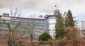 欧洲人权法院的建筑细节 库存图片