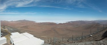 欧洲人非常大望远镜智利 图库摄影