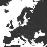 欧洲传染媒介地图有国家边界的 库存照片