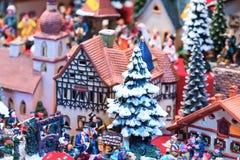 欧洲圣诞节市场摊位 库存图片