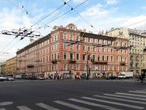欧洲城市圣彼得堡,俄罗斯的城市视图 免版税库存图片