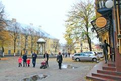 欧洲城市Ivano-Frankivsk西乌克兰 免版税库存照片