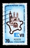 欧洲大厦和纪念碑, VII城市联合国大会  库存照片