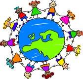 欧洲孩子 库存例证