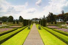 欧洲庭院 免版税库存照片