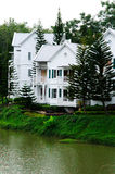 欧洲房子白色 免版税库存照片