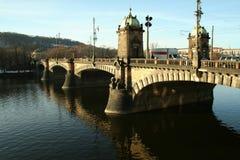欧洲捷克共和国布拉格桥梁 库存照片