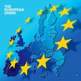 欧洲文本联盟 库存例证