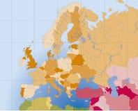 欧洲映射向量 库存照片