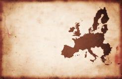 欧洲映射葡萄酒 库存图片