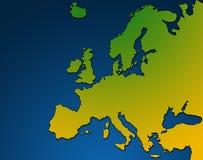 欧洲映射 向量例证
