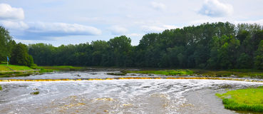 欧洲最长的瀑布 免版税图库摄影