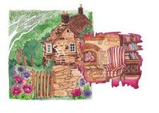 欧洲村庄的舒适 库存照片