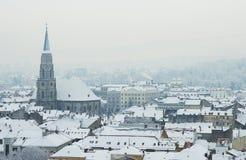 欧洲极端冬天 库存照片