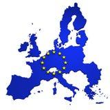 欧洲查出的映射联合白色 库存例证