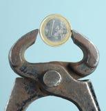 欧洲概念的货币 免版税库存照片