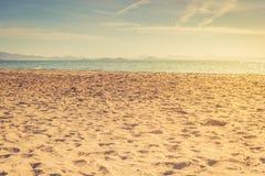 欧洲沙滩和蓝色海, 3月Menor 库存照片