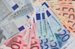 欧洲现金 免版税库存图片
