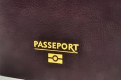 欧洲生物统计的护照 免版税图库摄影