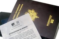 欧洲生物统计的护照 库存照片