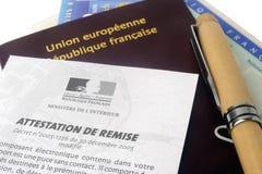 欧洲生物统计的护照 免版税库存图片