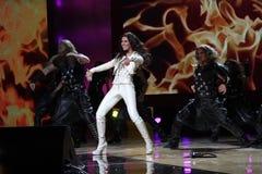 欧洲电视网ruslana歌唱家赢利地区 免版税库存照片