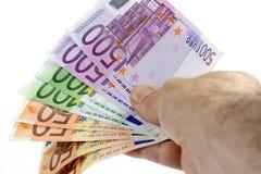 欧洲的钞票 免版税图库摄影
