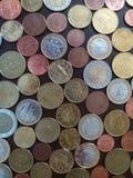 欧洲硬币,欧盟 免版税库存照片