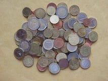 欧洲硬币,欧盟 图库摄影