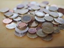 欧洲硬币,欧盟 免版税库存图片