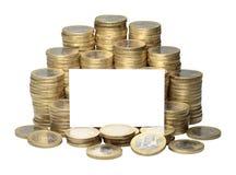 欧洲硬币 免版税库存照片