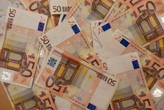 欧洲票据背景 库存图片