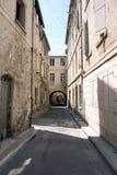 欧洲缩小的老街道 免版税图库摄影