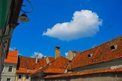 欧洲罗马尼亚顶房顶transylvania 免版税库存照片