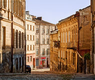 欧洲老街道城镇 免版税图库摄影