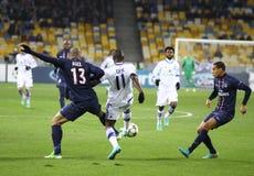 欧洲联赛冠军杯比赛发电机Kyiv与PSG 图库摄影