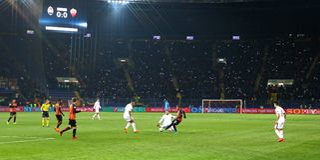 欧洲联赛冠军杯:Shakhtar顿涅茨克v罗马 免版税库存图片