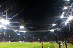 欧洲联赛冠军杯:Shakhtar顿涅茨克v罗马 库存图片